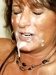 Amateur facial, Facials, Milf facial, Dirty