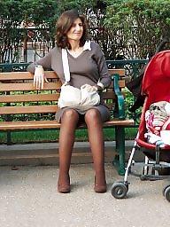 Voyeur stockings public