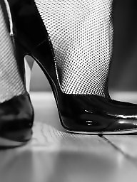 Heels, Black stockings, High heels