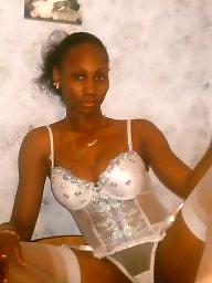 Ebony amateur, Ebony stockings, Bush