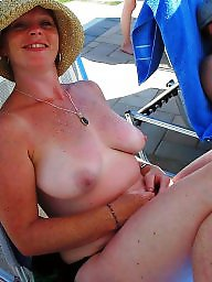 Beach milf, Milf beach, Holiday, Red head, Holidays
