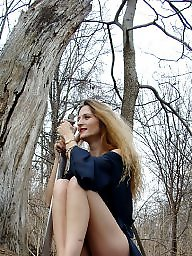 Mature public, Mature ladies, Public mature, Woods, Lake