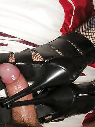 Heels, Amateur boots, High heels, Fishnet, Stockings